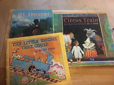 Lot Of 3 Children's Books On Trains