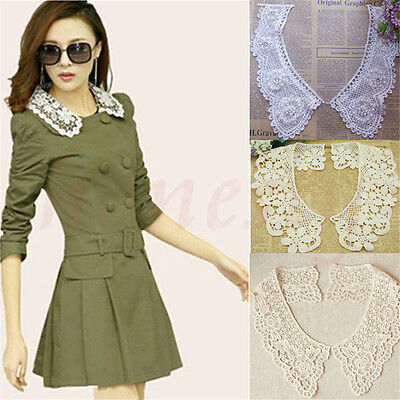 Lace Embroidered Floral Neckline Neck Collar Trim Clothes Sewing Applique DIY