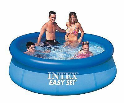 """Pool Easy Set Inflatable Intex Swimming 8ft x 30"""" Cover Paddling Pump"""