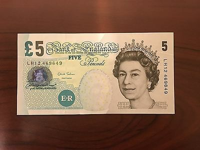 United Kingdom British English 5 Pounds FREE Shipping Banknote Good Condition