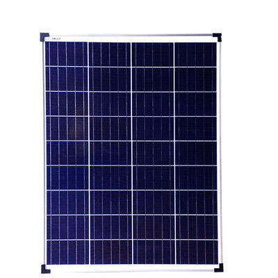 100W PV Solar Panel c/w cable for charging 12v 24v battery systems Caravan RV UK