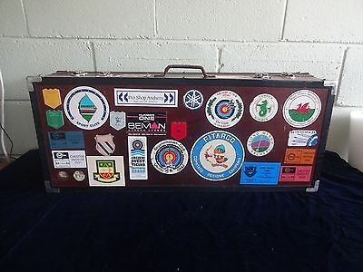 Vintage Wooden Hand Made Archery Double Sided Equipment Case