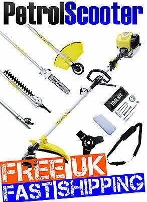 4 Stroke Garden Multitool 38cc 5 In 1 Brushcutter Strimmer Chainsaw Hedgecutter