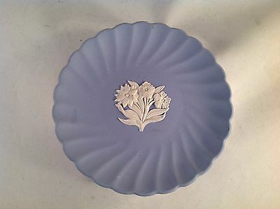 """Wedgwood Fluted Floral Jasper Candy Tray Plate 5"""" Diameter"""