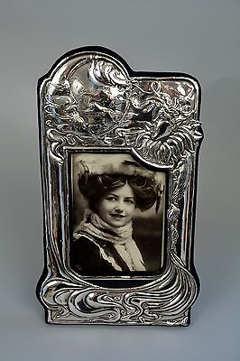 Art Nouveau Style Picture Frame Solid Silver Sterling Hallmarked, Glamour Pic