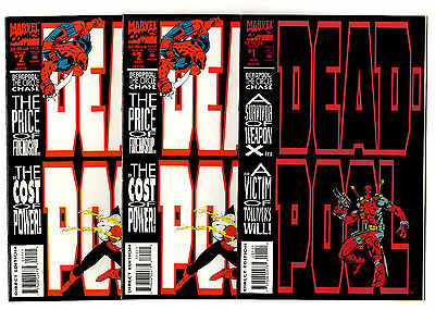Deadpool: The Circle Chase #1-4 (1993) Marvel VF+ to VF/NM