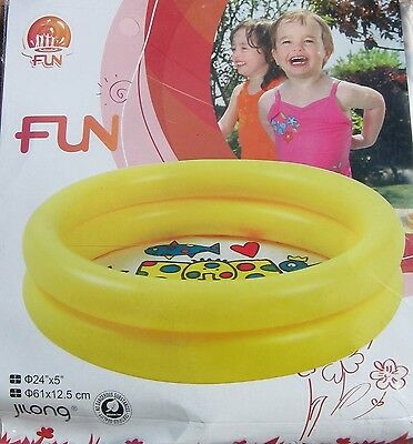 New In Pack Jilong Two Ring Paddling Pool 24 Inch X 5 Inch Ideal Summer Fun L@@k