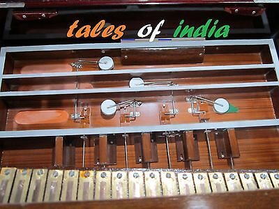 Portable Harmonium~Classic High Quality Triple Reed~Scale Changer~3 1/2 Octave