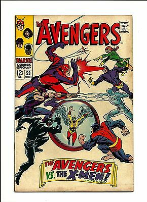 1968 Marvel Comics Avengers # 53 vs. The X-Men FN- 5.5
