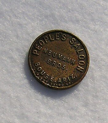 Vintage Bouse Arizona Token, People's Saloon, Neumann Bros., Good For 12.5 Cent
