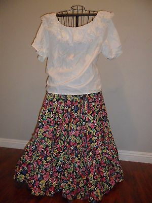 MEXICAN Dance FOLKLORICO Practice SKIRT& TOP MEXICO Fiesta