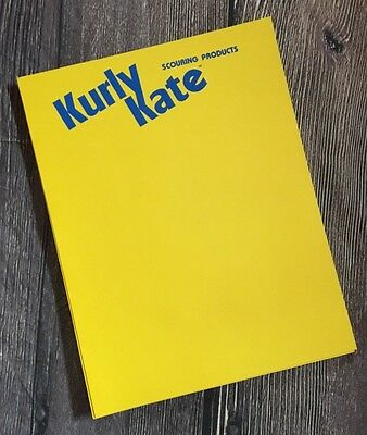 Rare Kurly Kate Scouring Products Vintage Letterhead Paper Memo Note Sheets Ad