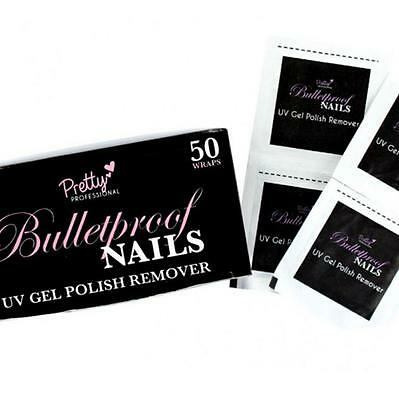 50 Wraps Pretty Professional Bulletproof Nails UV Gel Polish Remover Nail Wrap