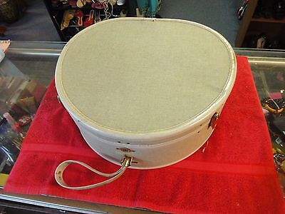 """Vintage Samsonite Rounded Luggage Hatbox Suitcase Train case 18"""" carry on handle"""