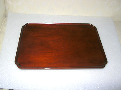 Williamsburg Virginia Metalcrafters Footed Mahogany Tray
