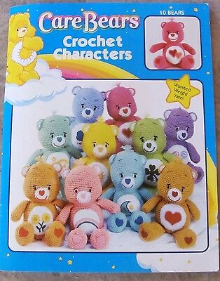 """CARE BEARS CROCHET CHARACTERS 10 Patterns for 14"""" Dolls Craft Idea Book #3690  B"""