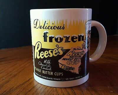 """Retro Reese's Peanut Butter Cup Mug """"Delicious Frozen Reese's"""""""