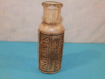 Vintage Antique INGLUVIN MEDICINE BOTTLE APOTHECARY PHARMACY Philadelphia PA USA