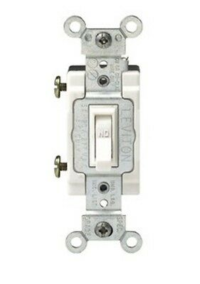 *NEW* Leviton 1101-CW AC Quiet Single Pole Framed Toggle Switch - White