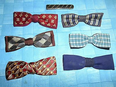 Vintage Boy's Bow Ties And One Adult Tie Clip