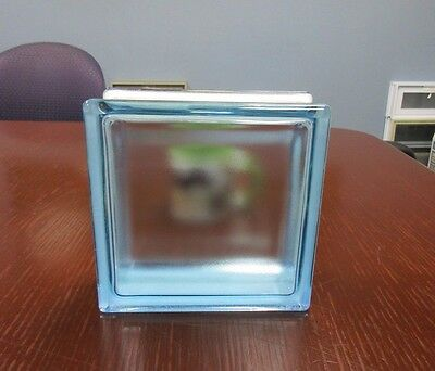 Solaris Riva Blue Glass Block Imperial Sized 8 x 8 x 3 in (10 Pack)