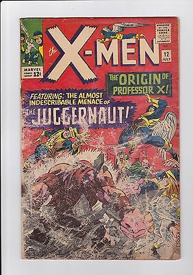 X-Men #12, July 1965, Marvel Comics, 1st app. of The Juggernaut FR/GD complete