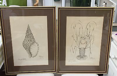 2 Signed & Framed Limited Edition Prints, Inspired By The Ocean, By Elyse Wasile