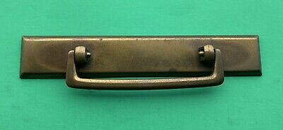 "Antique Hardware Vintage Mid Century Modern Drawer Pull Brass 3 1/4"" centers"