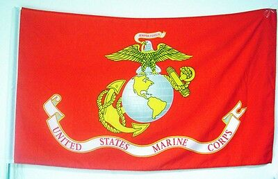 LEMO Marine US Corps Eagle Globe Anchor 3x5 ft Perma Dye Flag House Banner