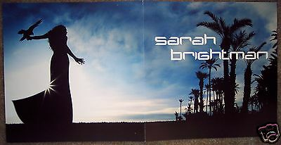 Sarah Brightman 2-Sided Harem Falcon Beach Beautiful Day Promo Poster 12X24 EXC