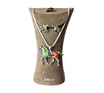 Suede multi jewelry ring necklace hanger display Wholesale LOT of 50