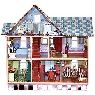 New Handcrafted Solid Wood Victorian Dollhouse by Melissa and Doug
