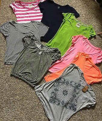 Lot of 8 Junior Women's Tops T Shirts Small XS American Eagle Hollister