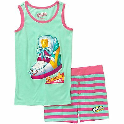 Girls Shopkins 2pc Summer Pajama Set New with Tags Size 4 Comfy & Cool! NWT Kids