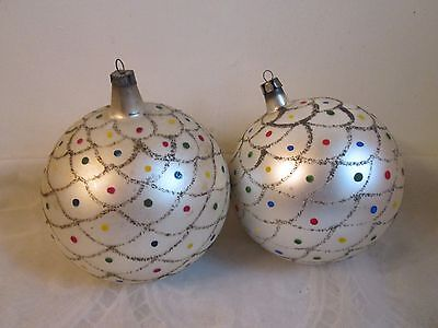 Vintage Poland Glass Ornaments, Lot of 2