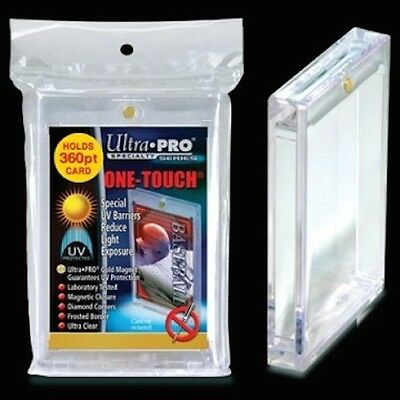2 ULTRA PRO One Touch Magnetic Holders 360pt UV Gold Magnet New