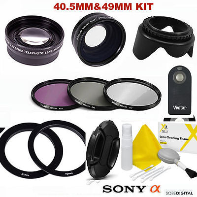 Fisheye Macro Lens + Telephoto Zoom Lens + Remote For Alpha A5000 A5100 A6500