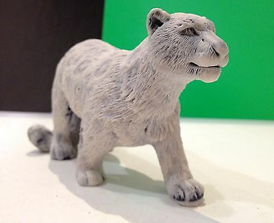 Snow leopard figurine marble chips realistic Souvenirs from Russia wild cat