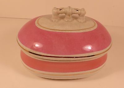 Antique 1882-1895 T.P.C.Co. Chamber Set - Soap Dish with Lid - Ironstone China