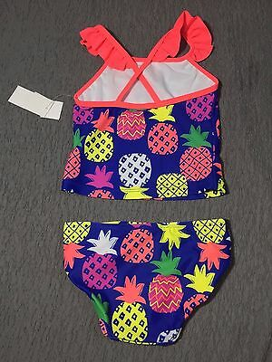 WonderKids Toddler Girl's Pineapple Design 2-Piece Tankini Swimsuit ~ Pick Size