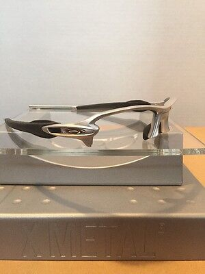 ~~Oakley Flak Jacket 2.0 Silver Frame Silver Icons Fast Free S/H~~