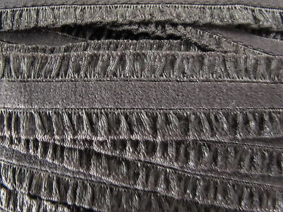 10mtrs Black elaistic double frill edge16mm wide