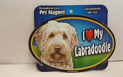 "Scandical I Love My LABRADOODLE  Dog Laminated Car Pet Magnet 4"" x 6"" MP 152"