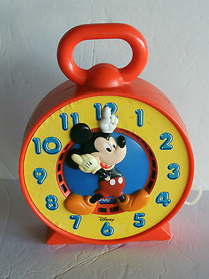 Mickey Mouse > Learning Time Clock  1981 Mattel - SEE N' SAY