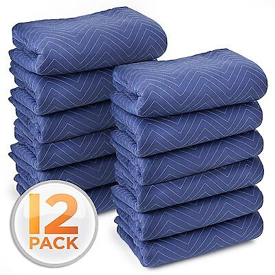 Moving Blankets 12 Pack Packing Supplies For Furniture Movers Shipping Wrap