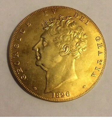 Very Rare 1826 5 Pounds George Iv £5 Coin Collectors Uk Britain Sovereign