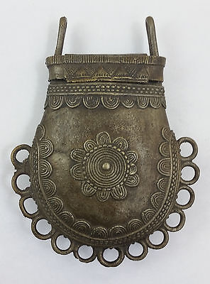 Antique Tribal West African Benin Bronze Purse - Antique Africa Jewelry -