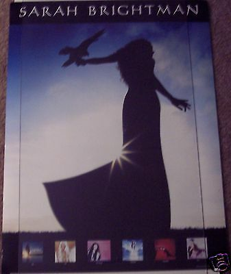 Sarah Brightman 2-Sided Harem Poster 18X24 Falcon Beach Beautiful Day Promo EXC