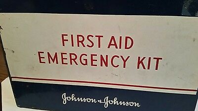 1942 Vintage Emergency First Aid Kit Johnson and Johnson
