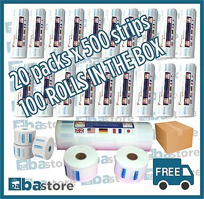 NECK PAPER ROLLS Barber/Salon 5x100 Strips In a Pack X20 Box( Clearance Sale)
